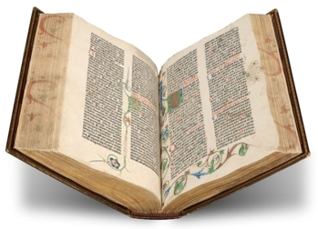 The Gutenberg Bible, PML 12, The Morgan Library & Museum.